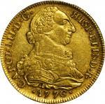 1776-P哥伦比亚8埃斯库多 PCGS AU 55
