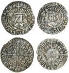 Henry VII (1485-1509), Groats (2), both type IIIC, 3.18g, m.m. crowned leopard?s head, henric di gra