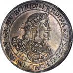 AUSTRIA. Taler, 1653. Vienna Mint. Ferdinand III (1637-57). NGC MS-63.