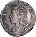 IRELAND. Silver Gun Money 6 Pence, 1689 (Feb). James II. NGC PROOF-62.