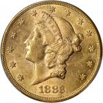 1883-S Liberty Head Double Eagle. AU-58 (PCGS).