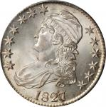 1827 Capped Bust Half Dollar. O-112a. Rarity-4. Square Base 2. MS-64 (PCGS).