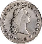 1795 Flowing Hair Silver Dollar. BB-27, B-5. Rarity-1. Three Leaves. VF Details--Repaired (PCGS).
