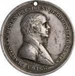 1837 Martin Van Buren Indian Peace Medal. Third Size. Julian IP-19. Prucha-44. Silver. Very Fine.