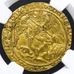 GREAT BRITAIN Henry VII ヘンリー7世(1485~1509) Angel ND(1489-93) NGC-AU53 VF~EF