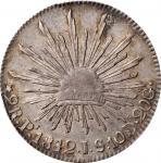 MEXICO. 2 Reales, 1842-Pi JS. San Luis Potosi Mint. PCGS AU-55 Gold Shield.