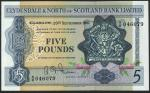 Clydesdale & North of Scotland Bank Limited, £5, 20 September 1961, serial number B/B 046079, blue,