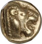 LESBOS. Mytilene. EL Hekte (2.52 gms), ca. 521-478 B.C.NGC EF, Strike: 4/5 Surface: 4/5.