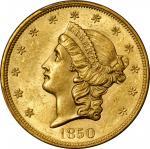 1850 Liberty Head Double Eagle. MS-62 (PCGS).