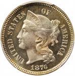 1876 Nickel Three-Cent Piece. Proof-66 (PCGS). CAC.