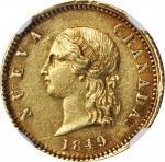 COLOMBIA. 2 Pesos, 1849. Bogota Mint. NGC AU-55.