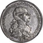 GERMANY. Hohenlohe-Kirchberg. Taler, 1781-G WKS. Christian Freidrich Karl (1767-1806). NGC MS-61.