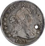 1804 Draped Bust Quarter. B-1. Rarity-3. Fine Details--Holed (PCGS).