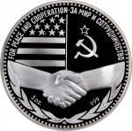 1987年俄罗斯5盎司银章。RUSSIA. 5 Ounce Silver Medal, 1987. NGC PROOF-69 Ultra Cameo.
