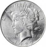 1923-D Peace Silver Dollar. MS-63 (PCGS).