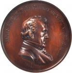 1857 James Buchanan Indian Peace Medal. Bronze. 76 mm. Julian IP-34. MS-63 BN (NGC).