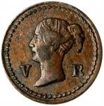 GREAT BRITAIN. 1/16 Farthing Token, ND (1848). London Mint. Victoria. PCGS AU-53 Gold Shield.