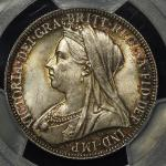 GREAT BRITAIN Victoria ヴィクトリア(1837~1901) Florin 1896 PCGS-MS63 UNC