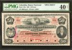 COLOMBIA. Banco Nacional de los Estados Unidos de Colombia. 50 Pesos, March 1, 1881. P-145s. Specime