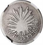MEXICO. 2 Reales, 1824-Do RL. Durango Mint. NGC VG-08.