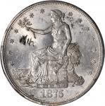 1875-CC Trade Dollar. Type I/I--Chopmark--MS-62 (PCGS).
