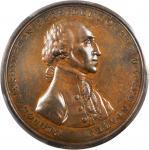 1797 Halliday Medal. Bronze. 54 mm. Musante GW-57, Baker-70C. MS-64 (PCGS).