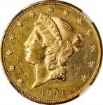1904 Liberty Head Double Eagle. MS-63 PL (NGC).