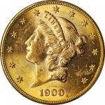 1900-S Liberty Head Double Eagle. MS-62 (PCGS).