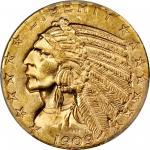 1909-D Indian Half Eagle. MS-63 (PCGS).