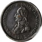 1783 (ca. 1820) Military Bust Copper. Musante GW-109F, Baker-4, Vlack 6-E, W-10200. Large Military B