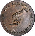 Undated (Circa 1793-1795) Kentucky Token. W-8800. Rarity-2. Copper. Plain Edge. AU-55 (PCGS).