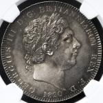 GREAT BRITAIN George III ジョージ3世(1760~1820) Crown 1820LX NGC-MS61 AU