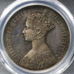 GREAT BRITAIN Victoria ヴィクトリア(1837~1901) Crown 1847 PCGS-PR62 トーン Proof -UNC