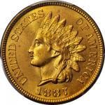 1887 Indian Cent. MS-66+ RD (PCGS). Retro OGH.