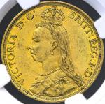 GREAT BRITAIN Victoria ヴィクトリア(1837~1901) 2Pounds 1887 NGC-AU58 EF+