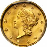 1853 Gold Dollar. MS-66+ (PCGS).