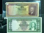 1930年土耳其实业银行2 1/2 & 10 土耳其里拉西。两张。 TURKEY. Lot of (2). Turkiye Cumhuriyet Merkez Bankasi. 2 1/2 & 10