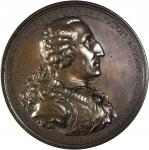 1805 Eccleston Medal. Bronze. 75.66 mm. Musante GW-88, Baker-85. Choice About Uncirculated.