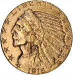 1916-S Indian Half Eagle. MS-63 (NGC). CAC.
