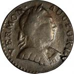 1788 Vermont Copper. RR-21, Bressett 10-R, W-2155. Rarity-4+. Bust Right. EF-45.
