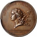 1781美洲自由勋章1781 Libertas Americana Medal. Copper. PCGS MS 64