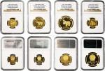 12014   1981年出土文物第一组金币一套4枚
