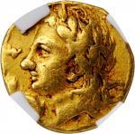 ITALY. Calabria. Tarentum. AV Diobol (1/6 Stater) (1.37 gms), ca. 320-315 B.C. NGC Ch F, Strike: 4/5