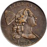 1794 Liberty Cap Cent. S-22. Rarity-1. Head of 1794. AU-53 (PCGS).