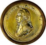 (Ca. 1800) George Washington Portrait Shell. Brass. Musante GW-66. Extremely Fine.