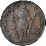 1788 Massachusetts Cent. Ryder 16-M, W-6410. Rarity-5. Period after MASSACHUSETTS. Very Fine-20 Deta