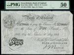 Bank of England, John Nairne (1902-1918), 5, London, 30 May 1913, serial number 59/A 57966, black an