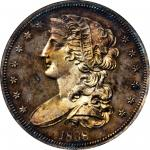 1838 Pattern Half Dollar. Judd-73 Restrike, Pollock-77. Rarity-5. Silver. Reeded Edge. Proof-63 (NGC