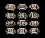 云南记月五两牌坊锭一组十二枚(重:173.3/169.2/189.7/153.4/164.4/176.9/201.5/180.5/178.3/147.3/187/173.9克)