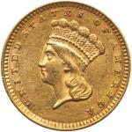 1857 $1 Gold Indian